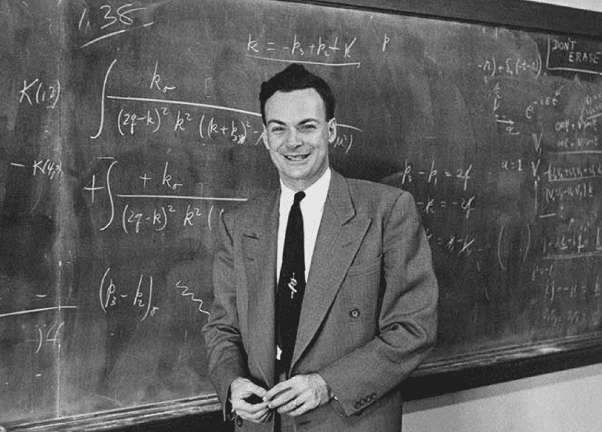 Foto do físico Richard Feynman